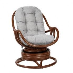 Кресло-качалка Kara c подушкой, Коньяк