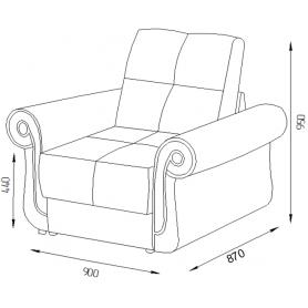 Кресло Оксфорд 5 (ППУ)