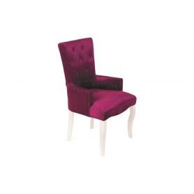 Кресло Виктория (бархат №26/белая эмаль)
