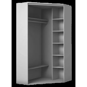 Шкаф-купе угловой, 2200х1103, ХИТ У-22-4-66-09, рисунок Орнамент, 2 зеркала, белая шагрень