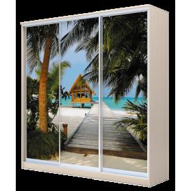 Шкаф-купе 3-х дверный 2200х1770х620, наполнение №1 фотопечать, рисунок