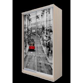 Шкаф-купе 2-х дверный 2200х1200х620 фотопечать, рисунок