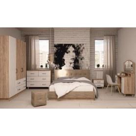 Спальный гарнитур Ханна, набор 3, дуб баррик/белый