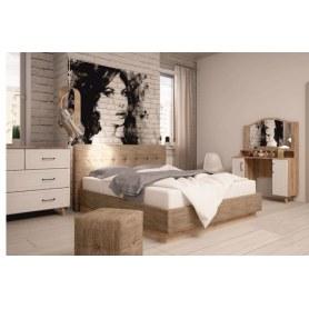 Спальный гарнитур Ханна, набор 4, дуб баррик/белый