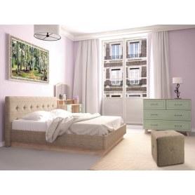 Спальный гарнитур Ханна, набор 2, дуб баррик/зеленая резеда