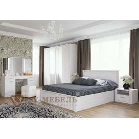 Спальный гарнитур Гамма 20, ясень анкор/сандал светлый