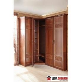 Спальный гарнитур Александрия, одностворчатый и 2-створчатые шкафы, Орех 2