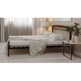 Кровать Муза 4 Лайт, 1600, черный/махагон