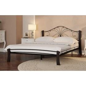 Кровать Фортуна 4 Лайт, 1600, черный/шоколад