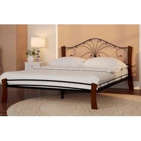 Кровать Фортуна 4 Лайт, 1200, черный/махагон