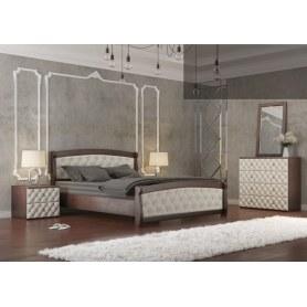 Кровать Магнат 160*190 с основанием, мягкие спинки