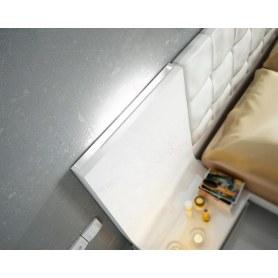Кровать 514 GRANADA белоснежная с подсветкой (160x200)