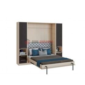 Кровать-шкаф Велена 4, 1400х2000, дуб молочный/венге