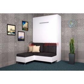 Кровать-шкаф с диваном Бела 7, 1400х2000, белый