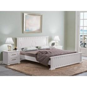 Кровать Milena-M, 200х200, сосна, белая эмаль