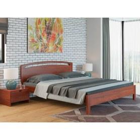 Кровать Веста 1-тахта-R, 200х200, береза, красно-коричневая