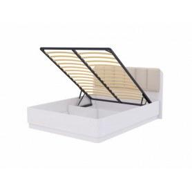 Кровать с подъемным механизмом Wood Home 2, 160х200, Белая эмаль сосна/Лофти лен