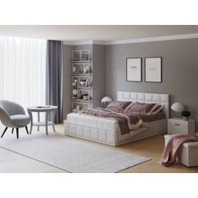 Кровать Puzzle, 160х200, экокожа белая