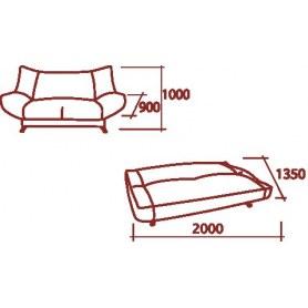 Прямой диван Дженни