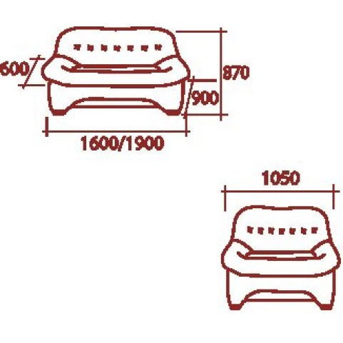 Прямой диван Джексон 1600 МД