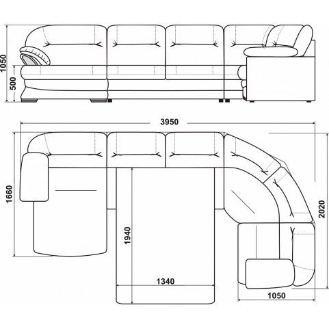 Модульный диван Квин 6