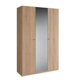 Шкаф трехдверный с зеркалом в спальню Квадро