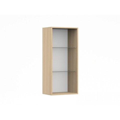 Шкаф навесной со стеклом в гостиную Венеция